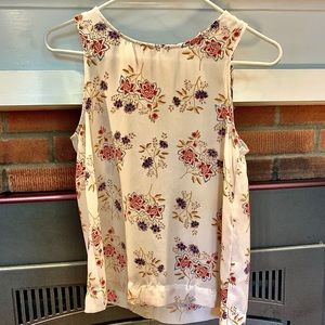 CUTE PINK REPUBLIC BLOUSE WHITE WITH FLORAL DESIGN